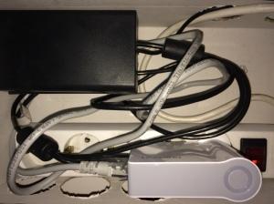 Foto des fertigen Aufbaus inkl. Mini Router